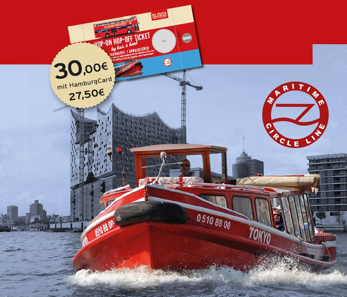Hamburg Stadtrundfahrt mit Bus und Schiff